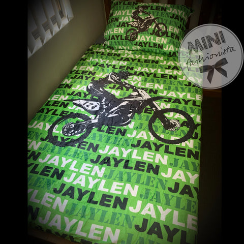 Custom moto blanket design