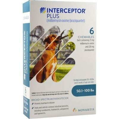 Interceptor Plus Chewable Tablets for Dogs, 50.1-100 lbs