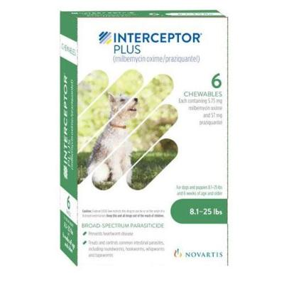 Interceptor Plus Chewable Tablets for Dogs, 8.1-25 lbs