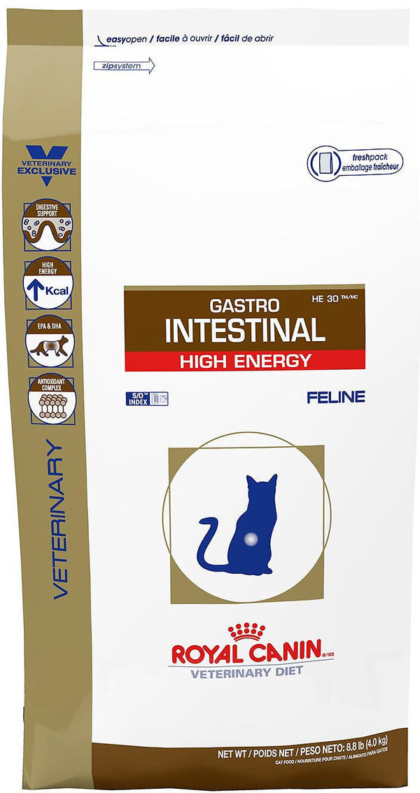 Royal Canin Veterinary Diet Gastrointestinal High Energy Dry Cat Food, 8.8-lb bag