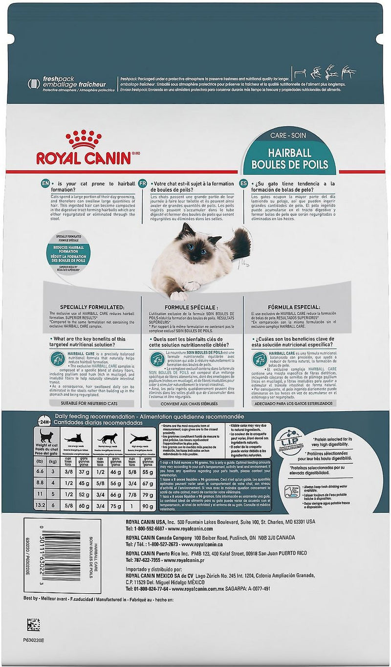 Royal Canin Hairball Care Dry Cat Food 3lbs to 6lbs