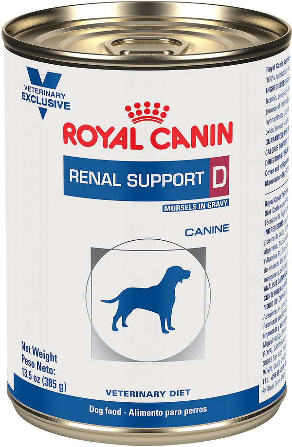 Royal Canin Veterinary Diet Renal Support D Canned Dog Food, 13.5-oz