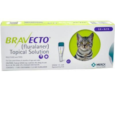 Bravecto for Cats, 2.8 up to 6.25