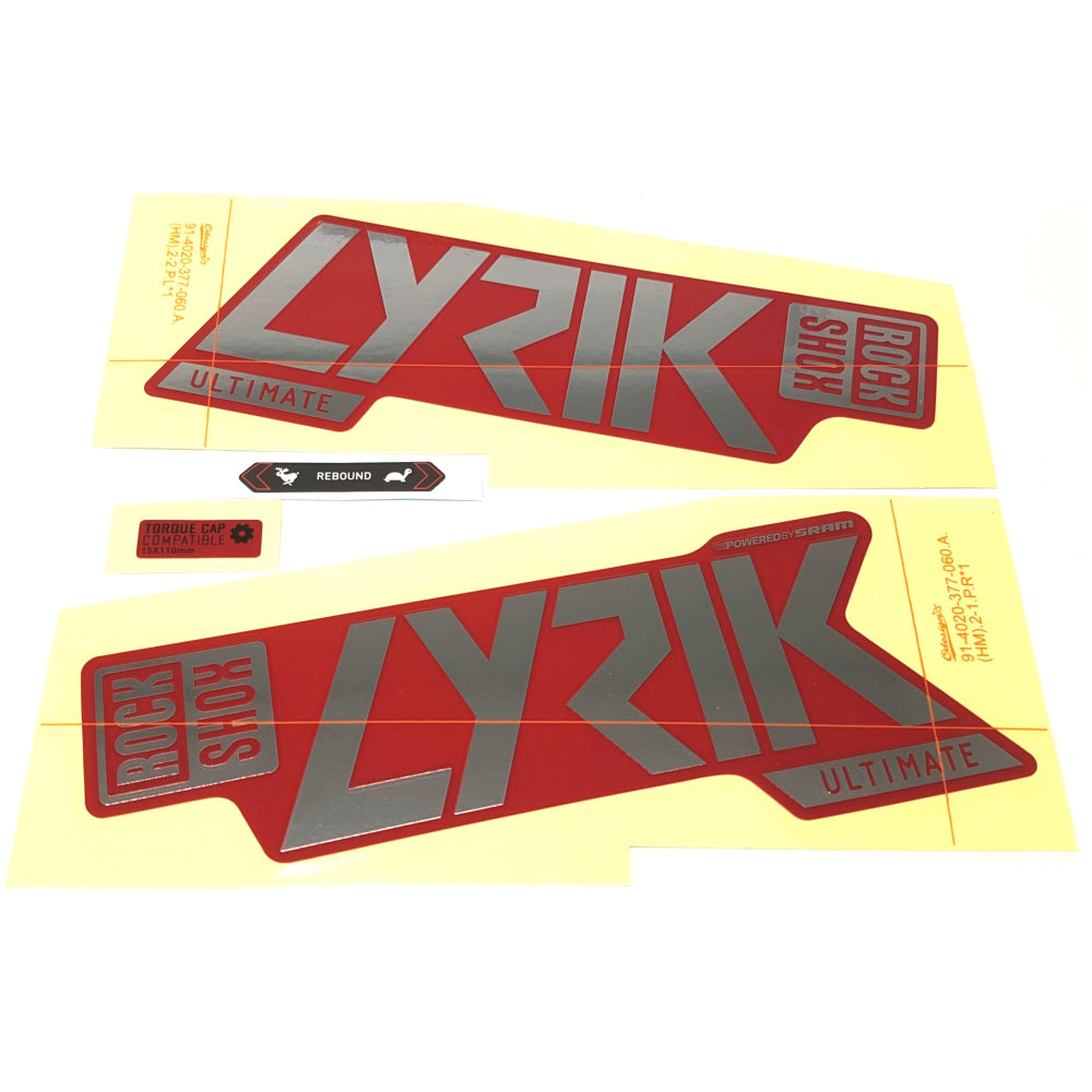 Rockshox Fork Decal Kit - 35mm Lyrik Ultimate