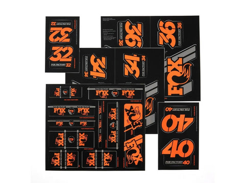 Fox Factory Heritage Fork/Shock Decal kit 2019 - Orange