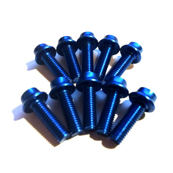 Aluminium Bolt Kit M5 Blue