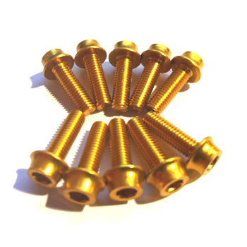 Aluminium Bolt Kit M5 Gold