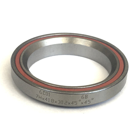 "Sealed Headset Bearing 1 1/8"" 30.2x41.8x7 45deg"