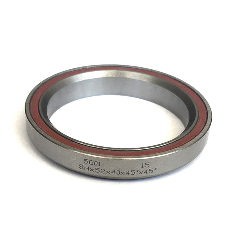 "Sealed Headset Bearing 1.5"" 40x52x8 45deg"