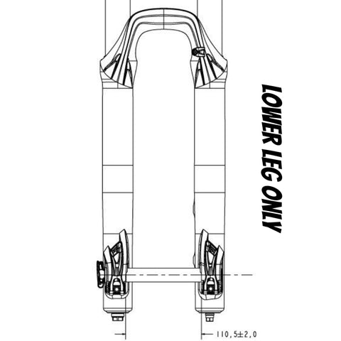 "Fox 36 Lower Leg Assembly 26"" 170-180 20mm 2011 White"