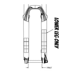 "Fox 32 Lower Leg Assembly 26"" 80-150 QR15 Black"