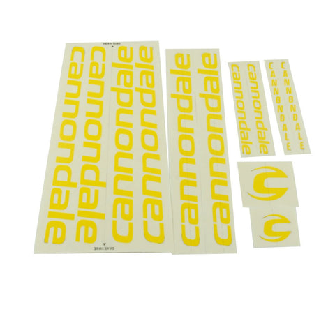 Cannondale Bicycles Vinyl Decal Kit - Yellow