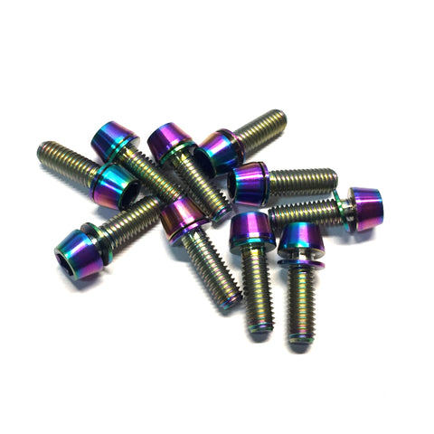 Titanium Bolt Kit M6 x 18mm Rainbow