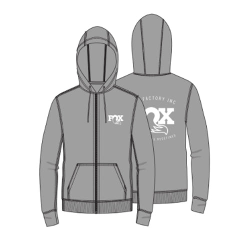 Fox Factory Full Zip Hoody Grey 2020