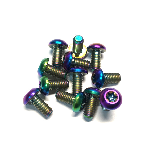 Titanium Rotor Bolt Kit 12pcs- Rainbow