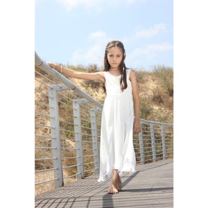 White sparkling chiffon dress