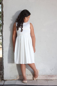 Ivory  sparkling special occasion midi  dress