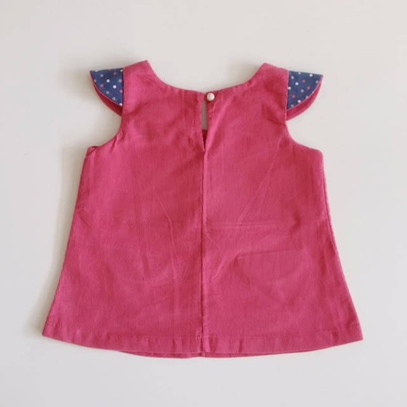 Pink  Corduroy mini pinafore dress