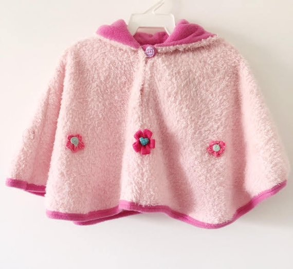 Pink hooded cape