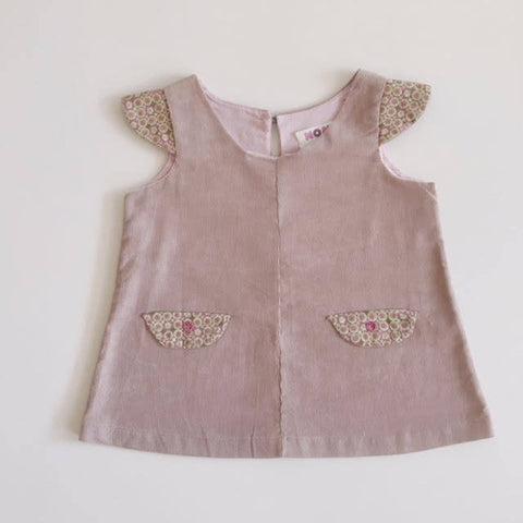 Corduroy mini pinafore dress