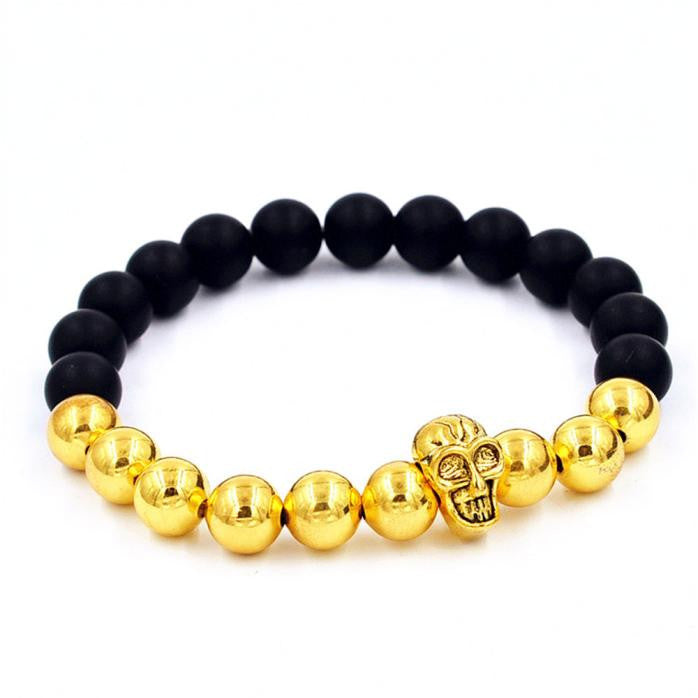Black and Bling Skull Bracelet
