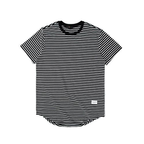 STRIPED SCALLOP TEE