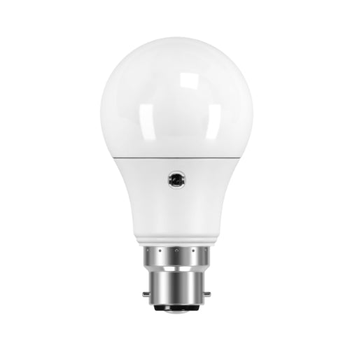 Led Daylight Sensor Bulb 7W B22 - Cool White