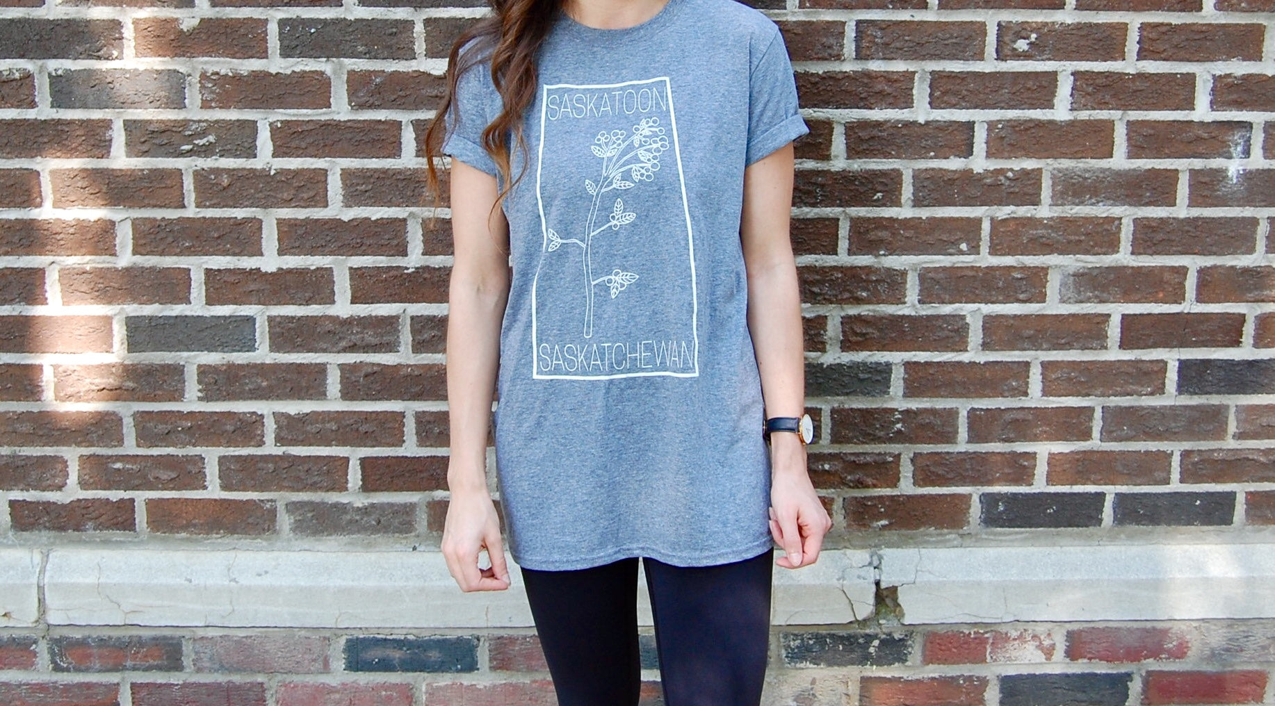 Saskatoon Berry T-shirt Graphite Heather