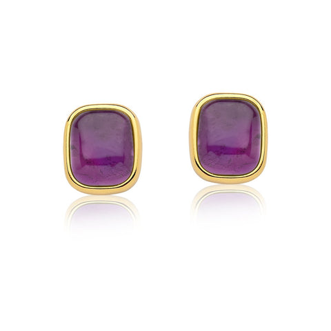 house 12 gold amethyst earrings
