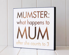 mumster funny wall plaque from rayell