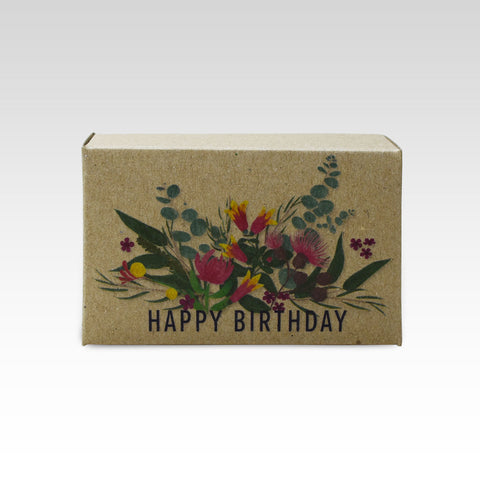 Happy Birthday Australiana Floral Soap - Attitudes Boutique Adelaide