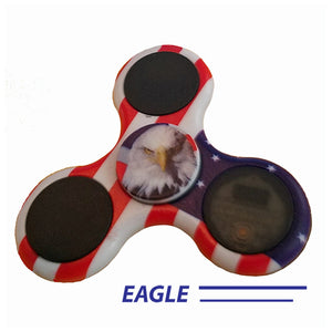 America 4th of july light up Finger Fidget Spinners with L.E.D.s- Video