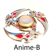 Anime-B  Metal Finger fidget Spinner  Beautiful and decorative