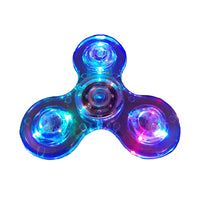 Crystal clear light up Finger Fidget Spinners with 9 L.E.D.s- Video