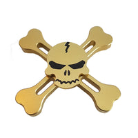 Metal Skull and Bones Finger Fidget Spinner