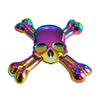 Polished Metal Skull and Bones Finger Fidget Spinner figit