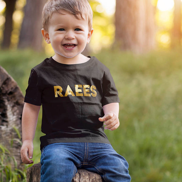 kids T-shirt with Gold Name