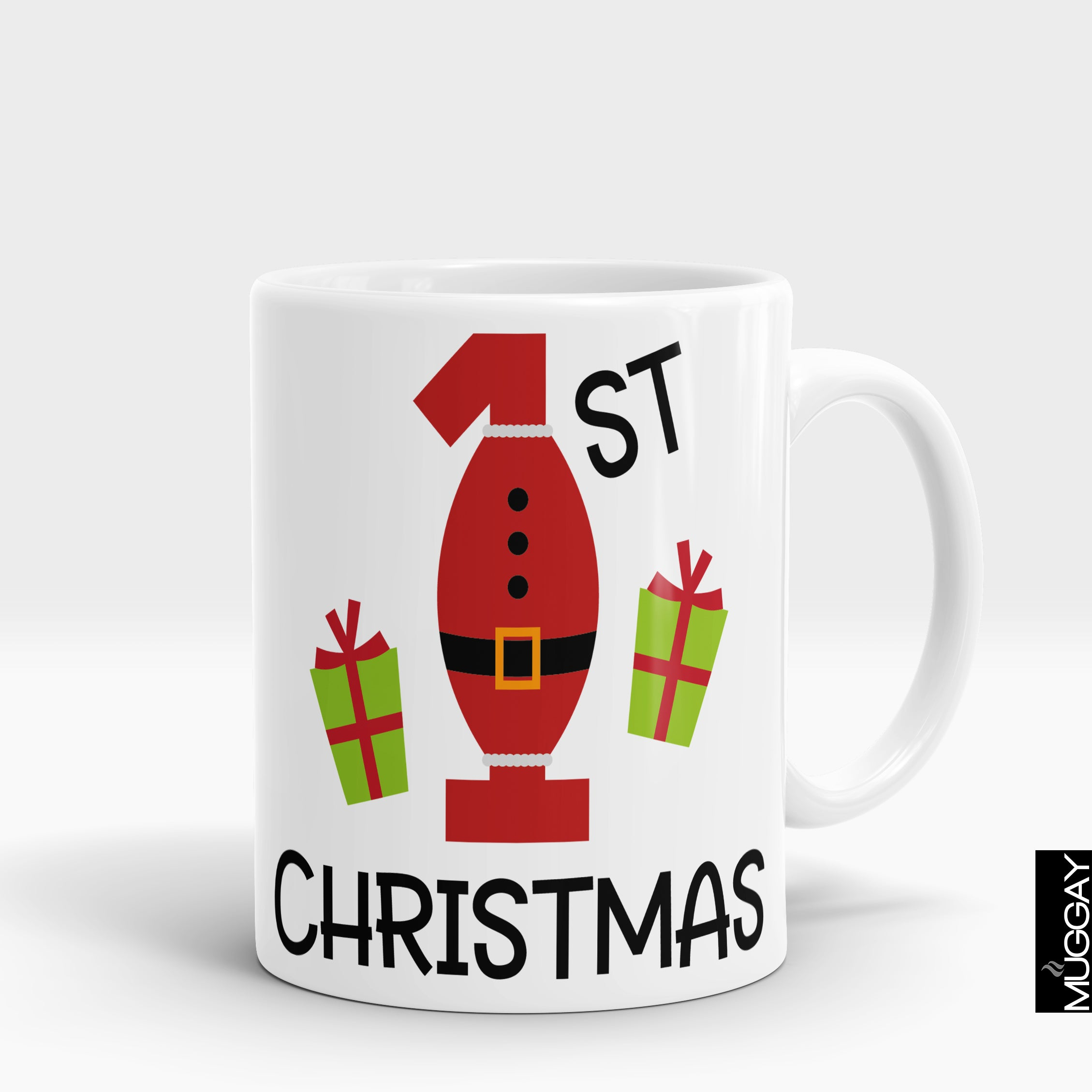 1st Christmas Mug - Muggay.com - Mugs - Printing shop - truck Art mugs - Mug printing - Customized printing - Digital printing - Muggay