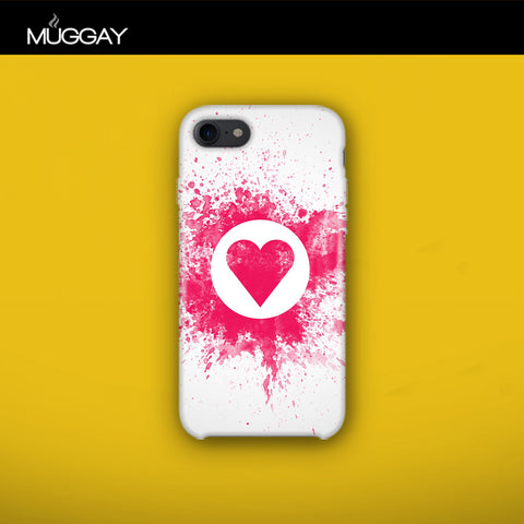 Mobile Covers - Heart with white background