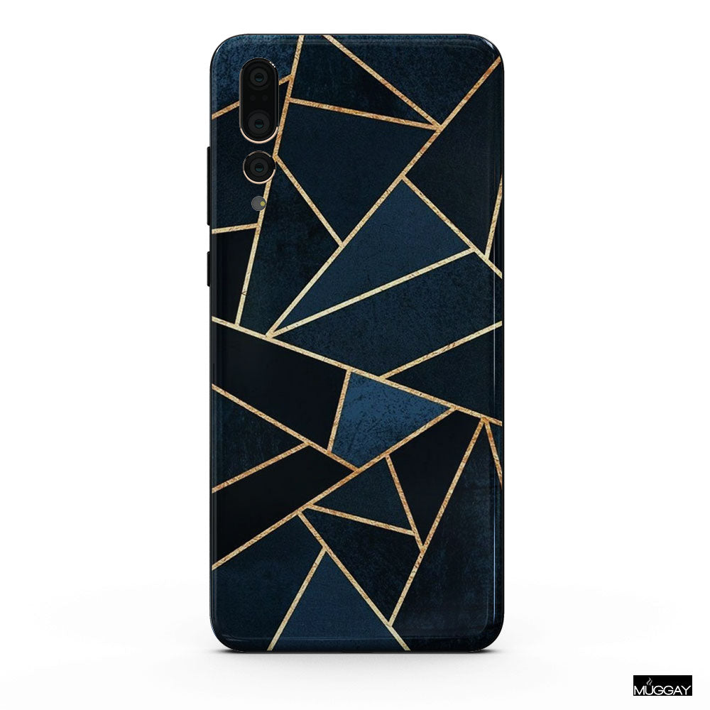 Mobile Covers - Blue gold