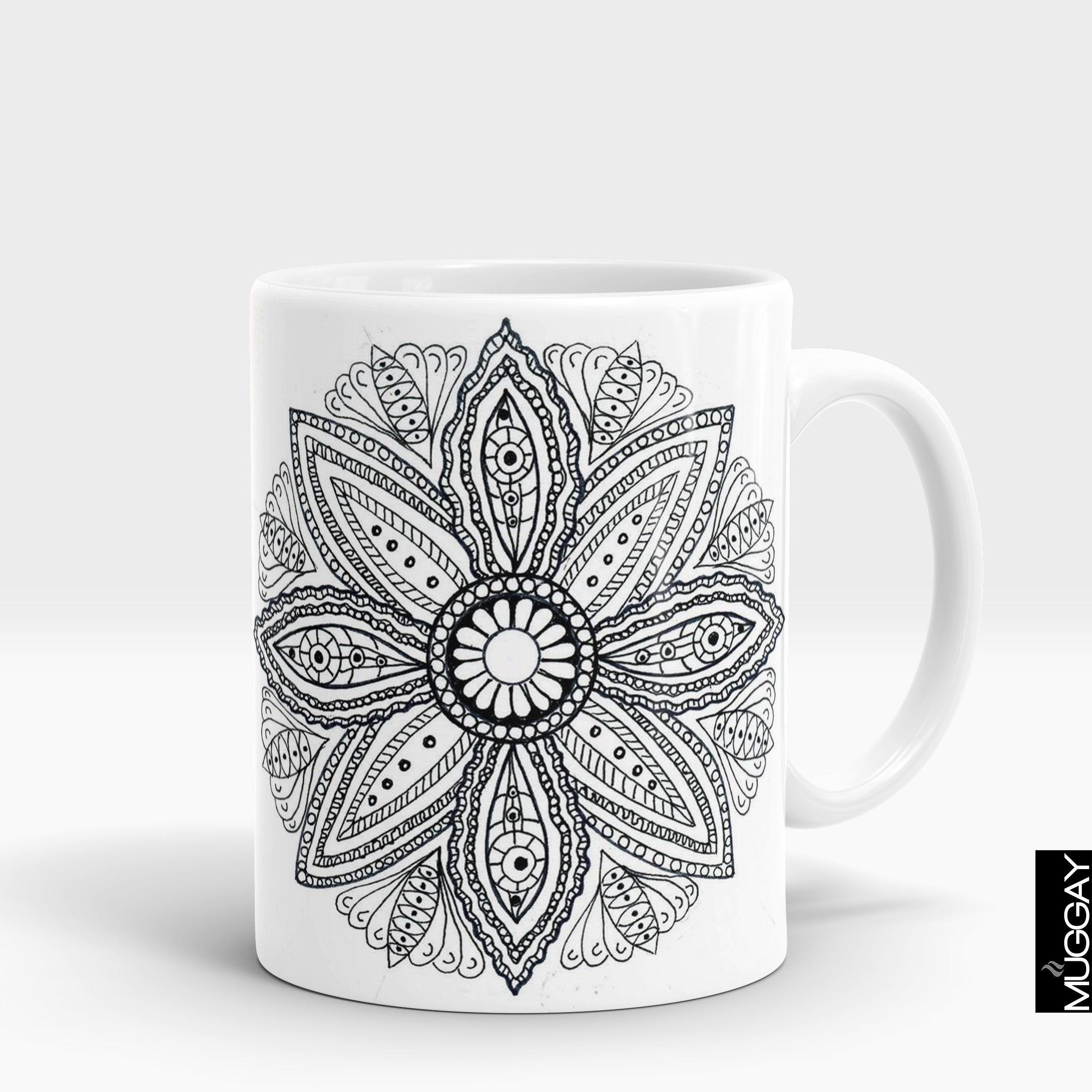 Mandala art mugs -11