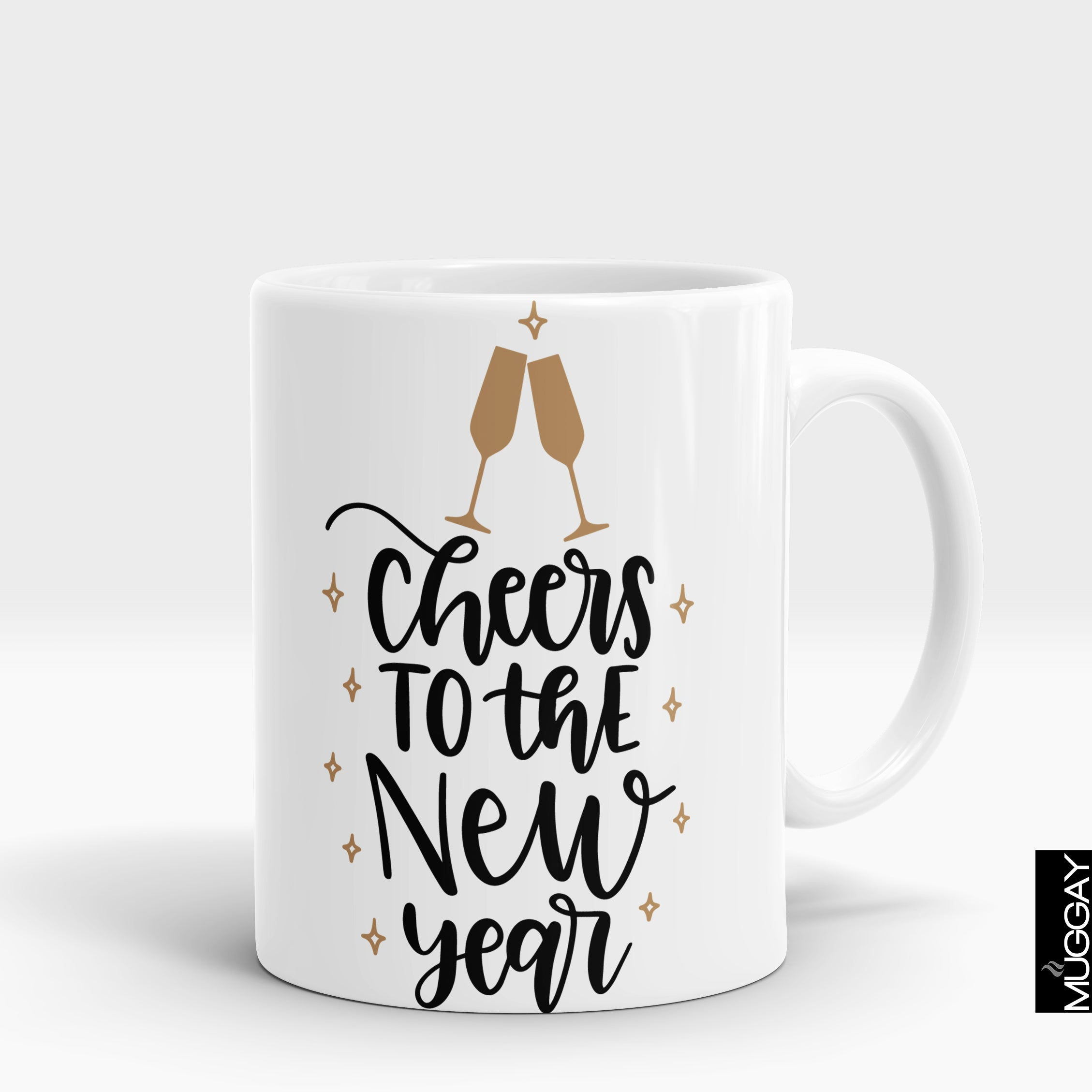 Cheers to the new year - Muggay.com - Mugs - Printing shop - truck Art mugs - Mug printing - Customized printing - Digital printing - Muggay