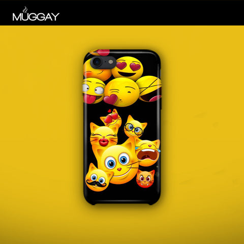 Mobile Covers - Emojis with Black background
