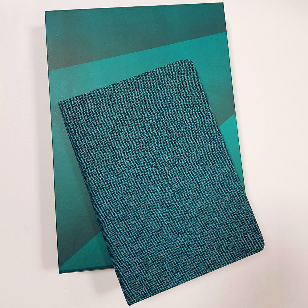Teal Leather journal with customization