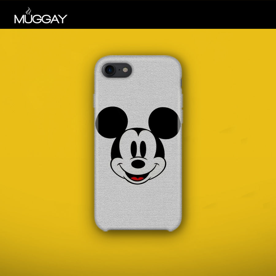 Mobile Covers - Mickey Mouse with grey background