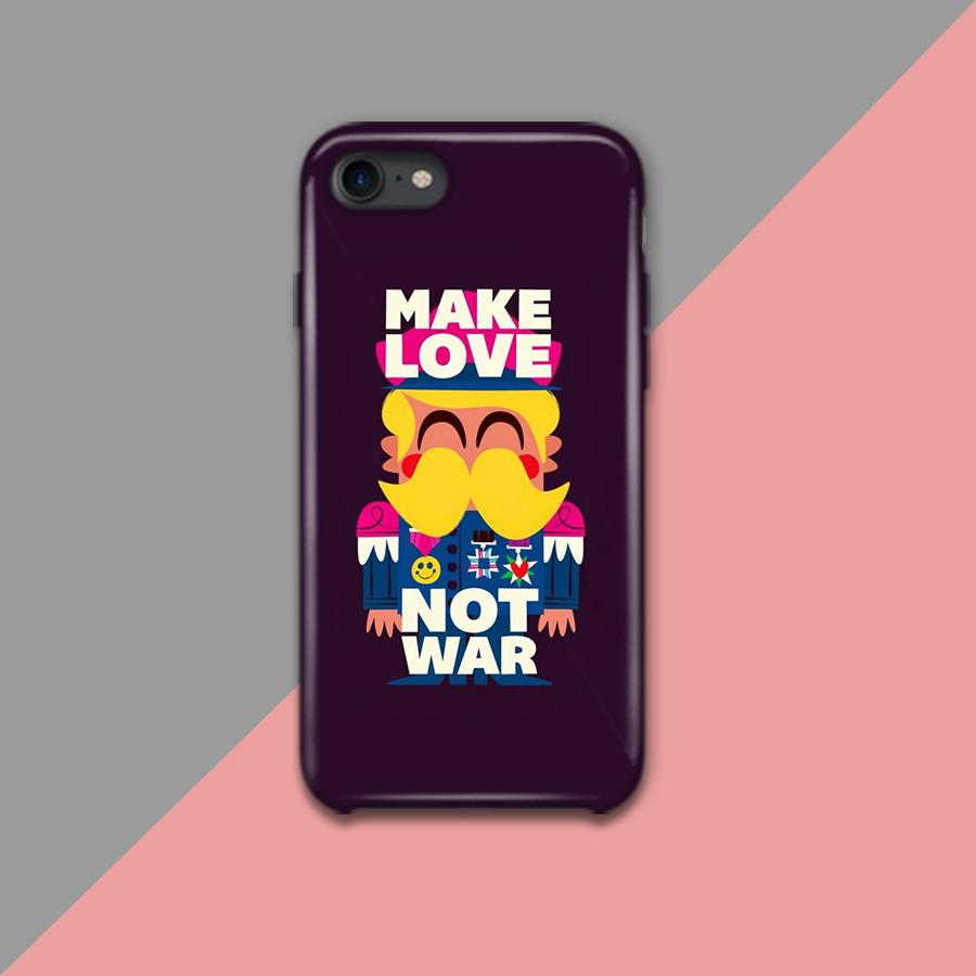Make Love Not War Design Phone Case
