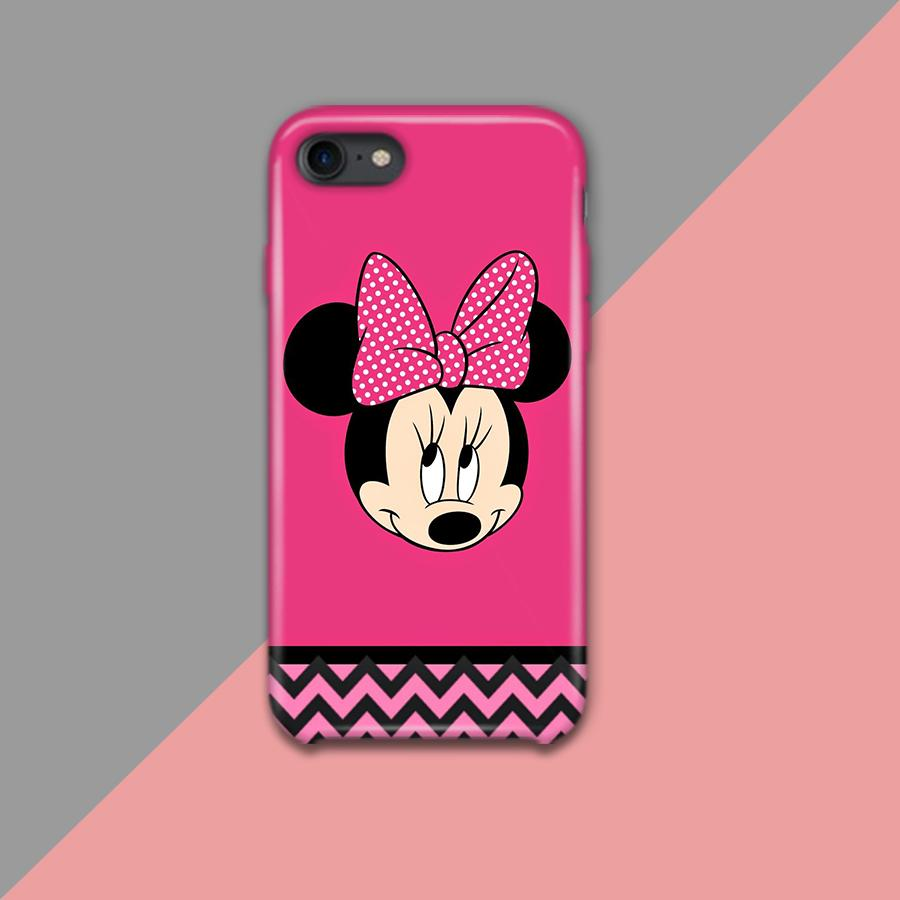 Pink Minnie Mickey Mouse Face Design Phone Case