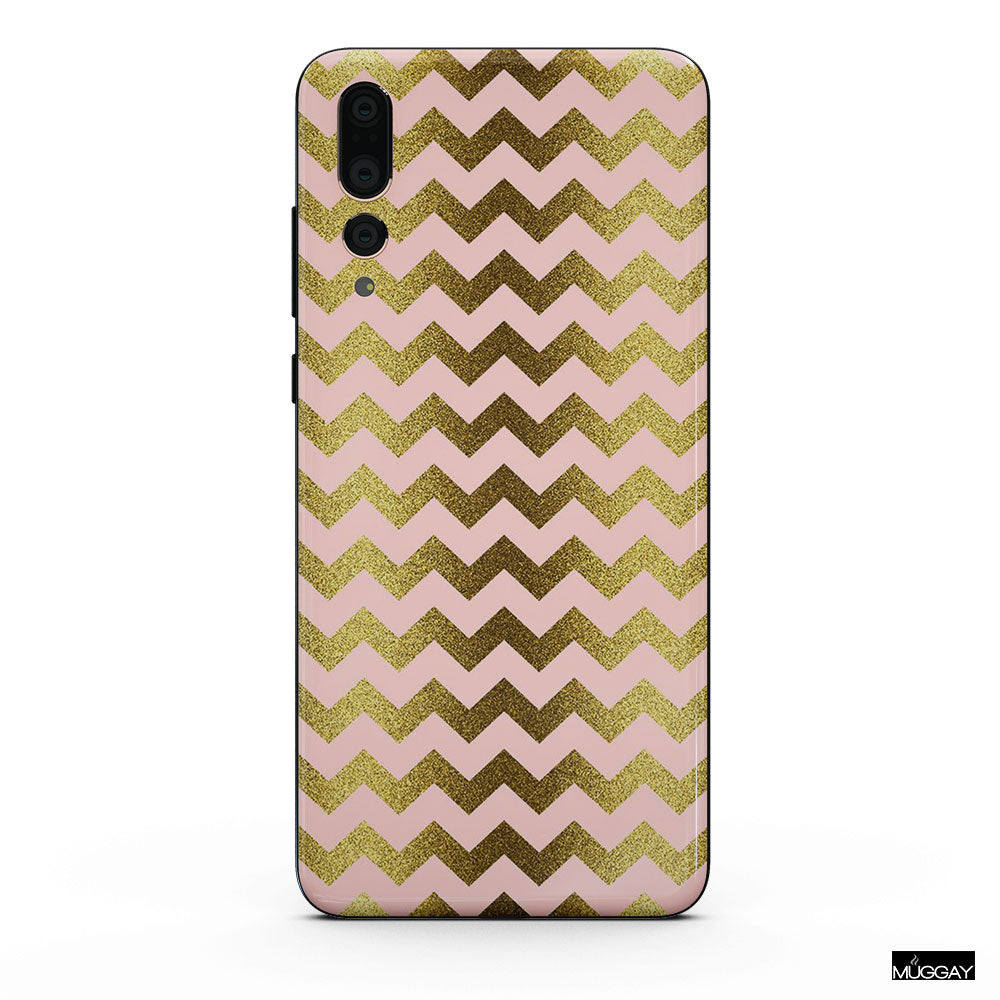 Mobile Covers - Gold chevron