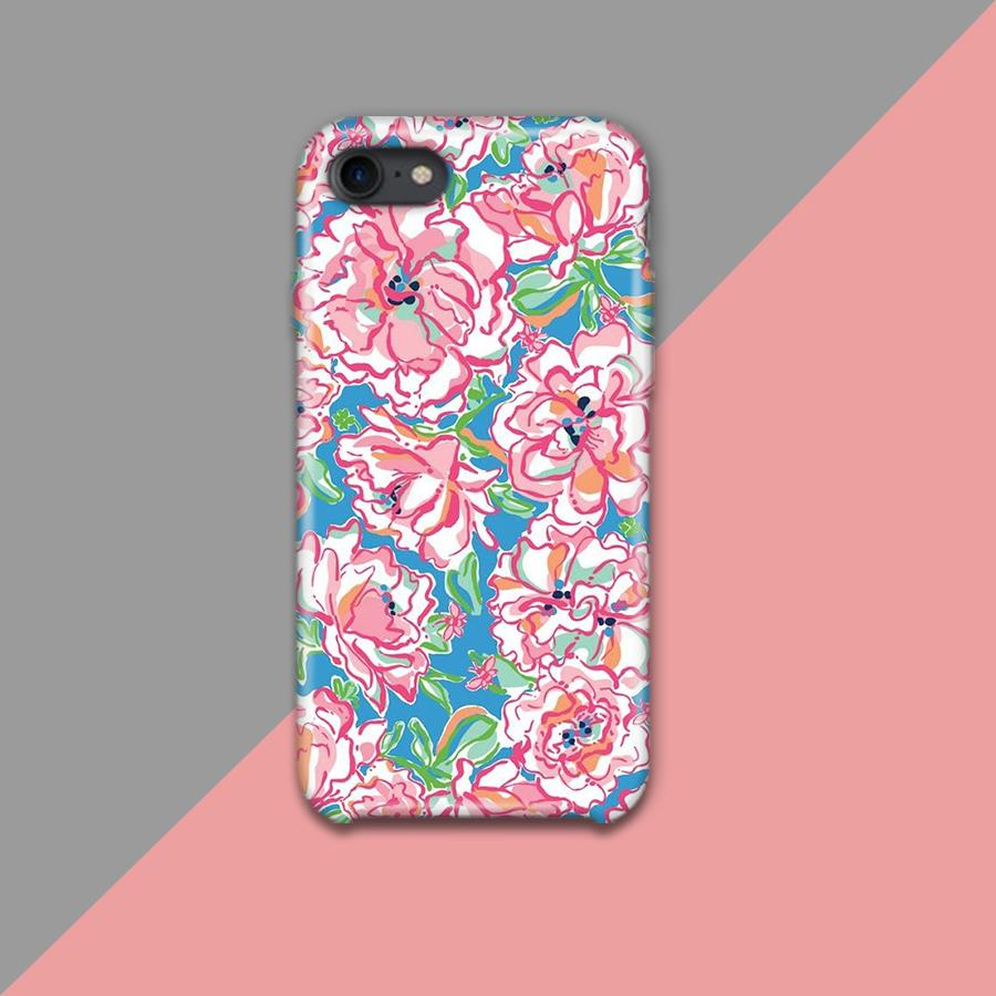 Pink and White Flowers Design Phone Case