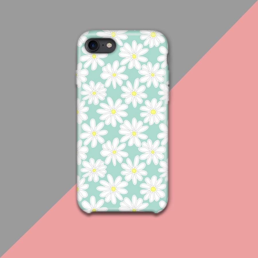 White Flowers Design Phone Case